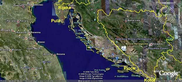 Carte Cote Croatie.Croatie Arion 2006