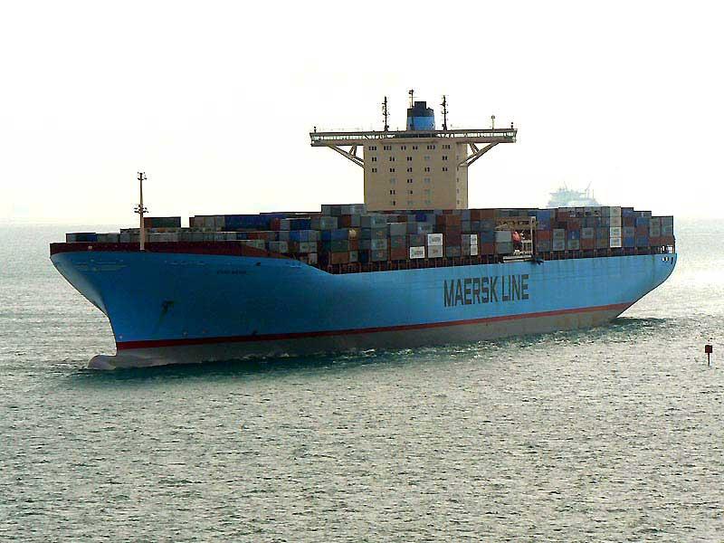 Marine marchande types de navires - Le plus gros porte conteneur de chez maersk ...